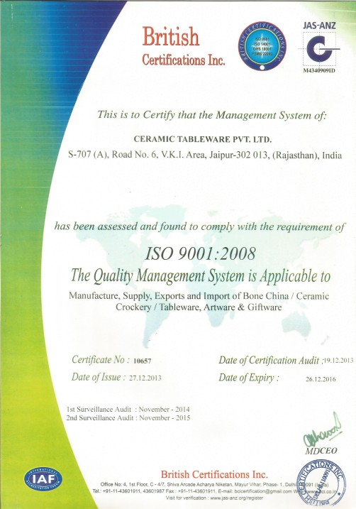 ISO Certification CTPL